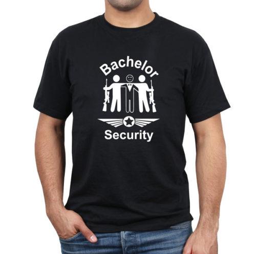 Bachelor-security-schwarz-tshirt