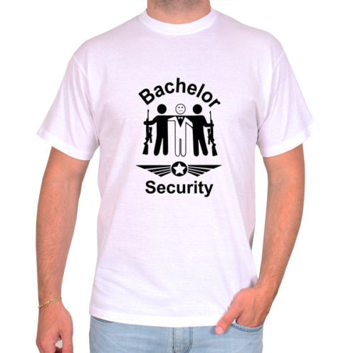 Bachelor-security-weiss-tshirt