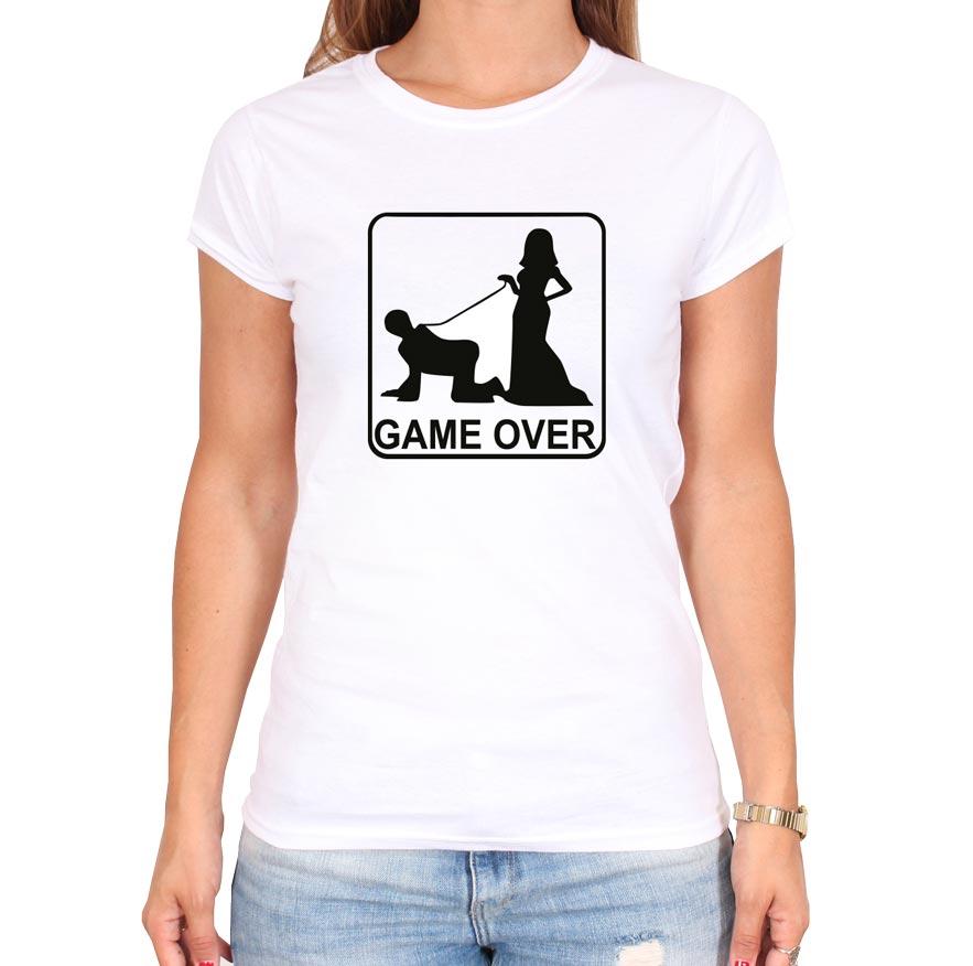 Gameover_leine_weiss_frauen_tshirt