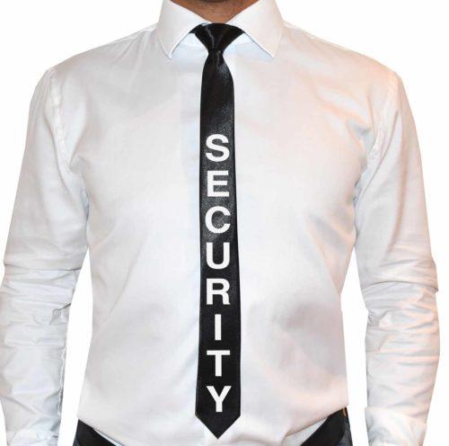 Polterabendideen-Krawatte-Security-schwarz