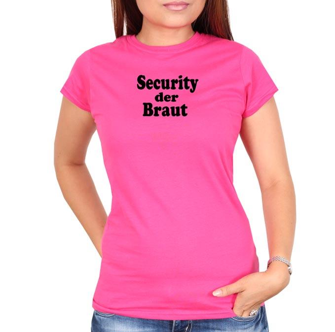 Security-der-braut-text-pink-frauen-tshirt