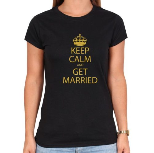 keep_calm-schwarz-frauen-tshirt