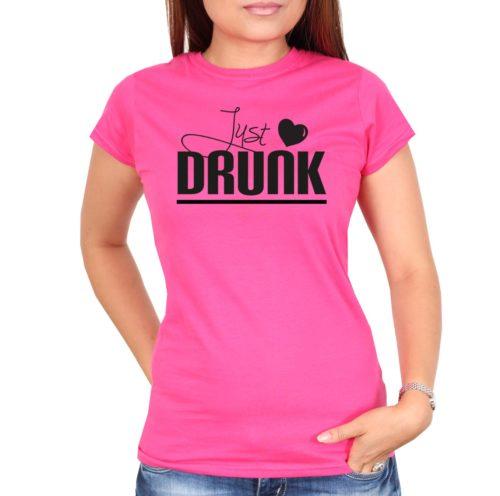 Polterabendideen_Shirt_Just_Drunk_pink